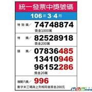 [統一發票中獎號碼106年07-08月]2017有增開獎號…(含106最新統一發票中獎號碼)