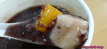 鮮芋仙芋圓紫米粥,料好實在真絕配。