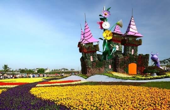 不用出國 台灣也有浪漫花海搭配城堡!