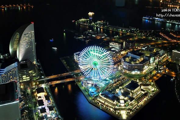 【旅行】東京市區之外,橫濱港區的夜景也很厲害啊!