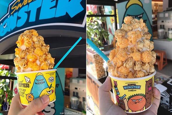 韓國人氣雪糕:甜心怪獸爆米花冰淇淋好威啊!
