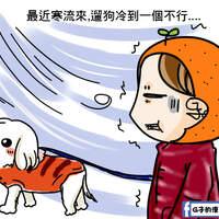冬天寒流來,瘦子禦寒保暖到底怎麼穿?+寵物也好冷.附上可疑人士照片,G子的漫畫生活