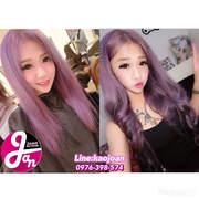 西門町推薦【乾燥花髮色-紫粉色】接髮染髮設計師Joan便宜接髮