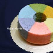 彩虹戚風蛋糕~全天然色彩